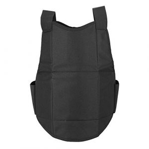 Tbest Airsoft Tactical Vest 1 Tactics Protection Vest, Nylon Black Lightweight Outdoor Shooting Body Tactics Protection Vest for Travelling Jungles Shrubs Archery Sports