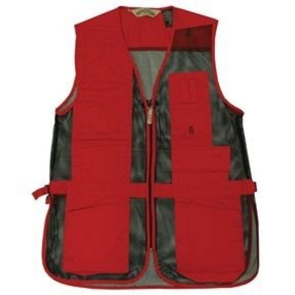 Bob-Allen Airsoft Tactical Vest 1 Bob-Allen Shooting Vest, Right Handed, Red, X-Large