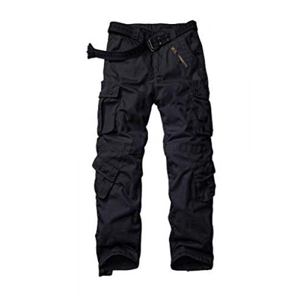 AKARMY Tactical Pant 1 Men's Ripstop Wild Cargo Pants, Relaxed Fit Army Camo Combat Casual Work Trousers with 8 Pockets