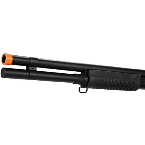 Lancer Tactical  5 Lancer Tactical Long M870 Shell Loading TriShot Airsoft Shotgun Black