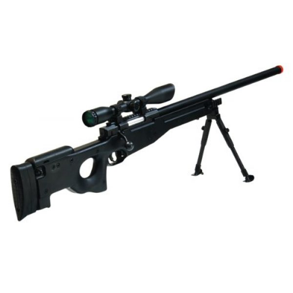 UTG Airsoft Rifle 1 UTG Airsoft Type 96 Black Sniper with Scope Airsoft Gun
