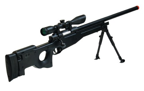UTG  1 UTG Airsoft Type 96 Black Sniper with Scope Airsoft Gun