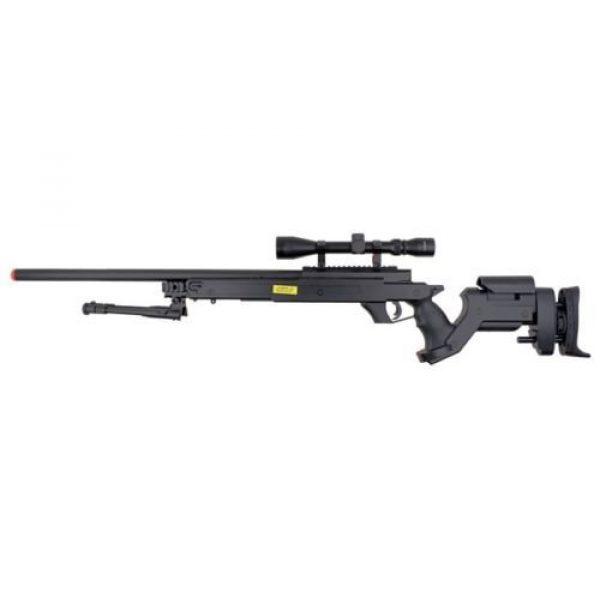 Well Airsoft Rifle 3 Well awn aps2 airsoft sniper rifle bi-pod scope 3,300 .30g bb's extra magazine(Airsoft Gun)