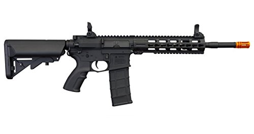 "Tippmann Airsoft  4 Tippmann Commando 14.5"" 6mm AEG Carbine (Battery & Charger) - Black"