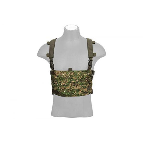 Lancer Tactical Airsoft Tactical Vest 4 Lancer Tactical 1000D Nylon QD Chest Rig and Backpack Combo (GREENZONE)