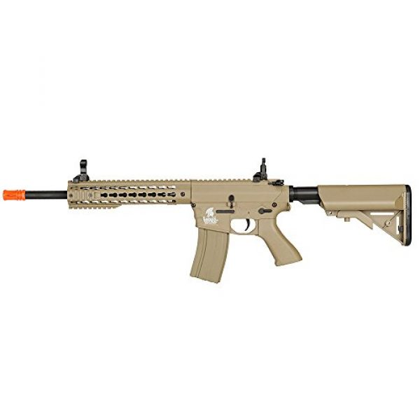 Lancer Tactical Airsoft Rifle 3 Lancer Tactical LT-12TK M4 Key Mod 10 inch AEG Metal Gear Metal Gear Airsoft Rifle Gun