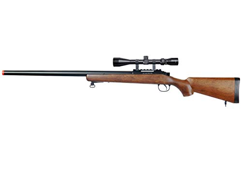 Well Airsoft Rifle 1 Well MB03 Airsoft Sniper Rifle W/Scope - Wood