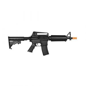 Lancer Tactical  1 lancer tactical lt-01bl electric airsoft gun fps-400 m4 commando full & semi auto v2 full metal gearbox(Airsoft Gun)