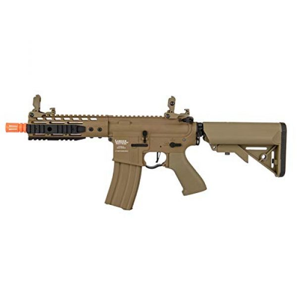 """Lancer Tactical Airsoft Rifle 1 Lancer Tactical Proline 9"""" KeyMod with Picatinny Carbine AEG Airsoft Rifle Tan 395 FPS"""