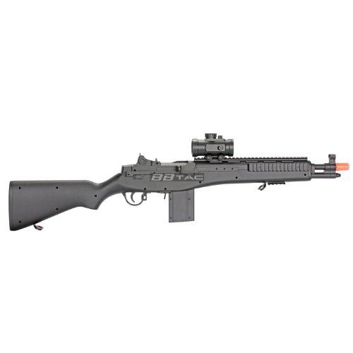 BBTac  2 BBTac m305p airsoft gun m14 ris full sized spring airsoft rifle with scope with warranty(Airsoft Gun)