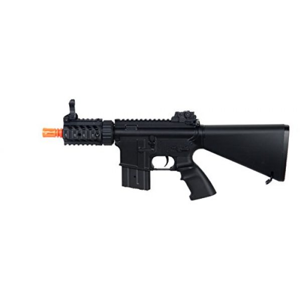 MetalTac Airsoft Rifle 6 MetalTac Electric Airsoft Gun M4 Stubby CQB JG-F6625 with Metal Gearbox Version 2, Full Auto AEG, Upgraded Powerful Spring 380 Fps with .20g BBS