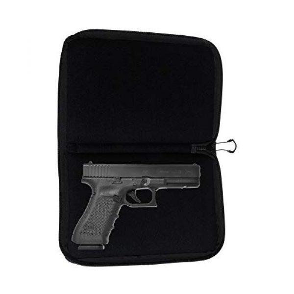 Allen Company Pistol Case 5 Allen Company 11 inch Auto-Fit 2.0 Deluxe Handgun Case, Black