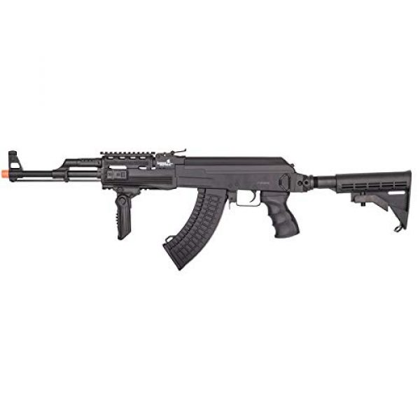 Lancer Tactical Airsoft Rifle 1 Lancer Tactical Airsoft Full Metal AK-47 AEG Rifle LE Stock with Battery & Charger Black