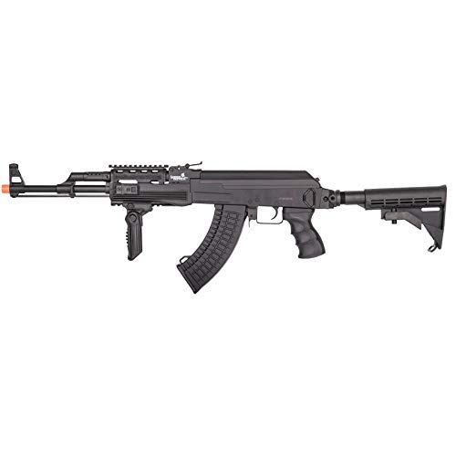 Lancer Tactical  1 Lancer Tactical Airsoft Full Metal AK-47 AEG Rifle LE Stock with Battery & Charger Black