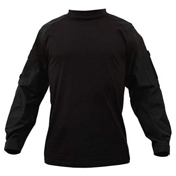 Rothco Tactical Shirt 1 Military NYCO FR Fire Retardant Combat Shirt, Black, 4XL