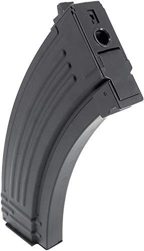 SportPro  2 SportPro Jing Gong 520 Round Flash Metal High Capacity Flash Magazine for AEG AK47 AK74 3 Pack Airsoft - Black