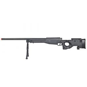 Well Airsoft Rifle 1 Well MB08 Airsoft Sniper Rifle W/Bipod - Black