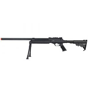 Well Airsoft Rifle 1 Well MB06 Airsoft Sniper Rifle W/Bipod - Black