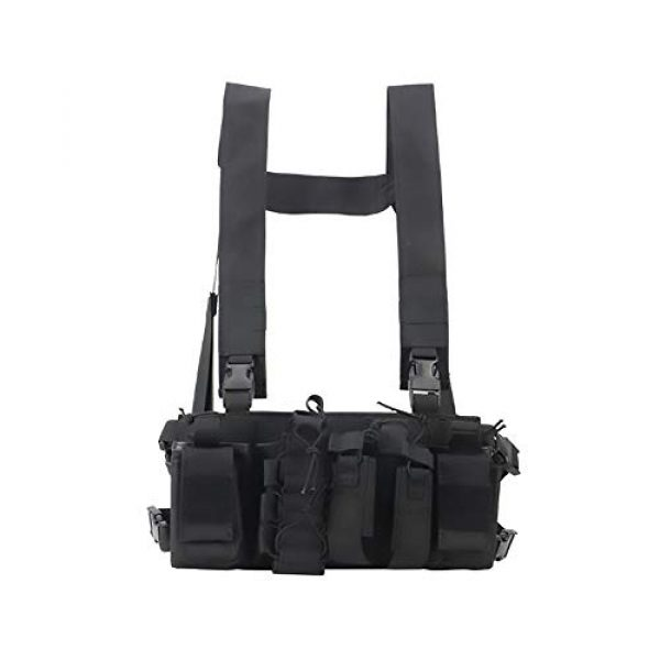 WEQ Airsoft Tactical Vest 1 WEQ Multifunctional Tactical Vest Outdoor Equipment Tactical Chest Hanging Combat Training Vest (Color : #C)