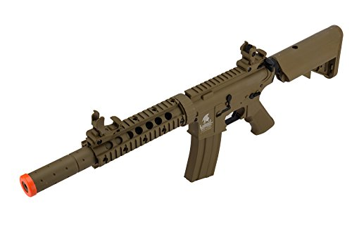 Lancer Tactical  5 Lancer Tactical Airsoft M4 SD GEN 2 Polymer AEG - TAN