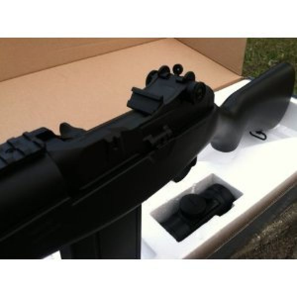 Electric Airsoft Rifle 4 enhanced 2012 full auto electric fps-330 m14 aeg fully automatic and semi automatic airsoft electric gun w/ rail system! 34 inches long! free high capacity magazine, ready to go right out of the box!(Airsoft Gun)