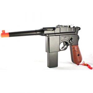 Blossom  1 Blossom w/ 6mm BB New WW2 MAUSER BROOMHANDLE C96 Modern German Airsoft Spring Hand Gun Pistol