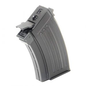 Generica Airsoft Gun Magazine 1 Airsoft Spare Parts 230rd Mag Short Type Hi-Cap Magazine for AK-Series AEG Black