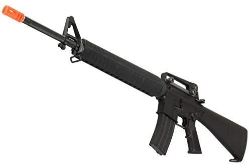 Lancer Tactical  4 Lancer Tactical WE M16A3 Open Bolt Full Metal Gas Blowback Airsoft GBBR Rifle Black