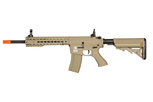 "Lancer Tactical  1 Lancer Tactical Airsoft LT-12TK 10"" Free Floating KeyMod Hguard - TAN"
