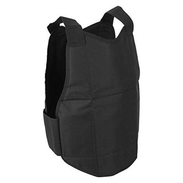 Tbest Airsoft Tactical Vest 2 Tactics Protection Vest, Nylon Black Lightweight Outdoor Shooting Body Tactics Protection Vest for Travelling Jungles Shrubs Archery Sports