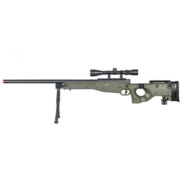 Well Airsoft Rifle 1 Well MB08 Airsoft Sniper Rifle W/Scope and Bipod - OD Green