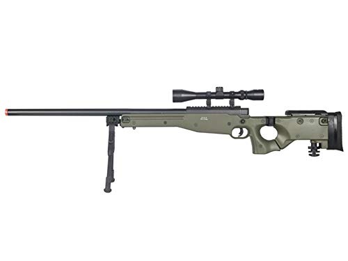 Well  1 Well MB08 Airsoft Sniper Rifle W/Scope and Bipod - OD Green