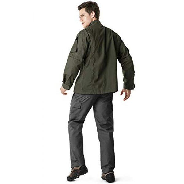 CQR Tactical Jacket 6 Men's Combat Military Jacket, Water Repellent Ripstop Army Fatigue Field Jacket, Outdoor EDC Tactical ACU/BDU Coat