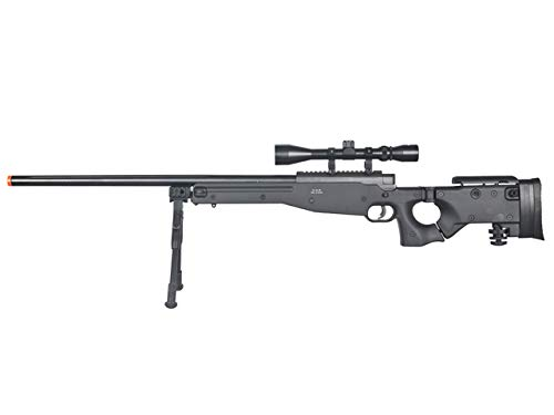 Well Airsoft Rifle 1 Well MB08 Airsoft Sniper Rifle W/Scope and Bipod - Black
