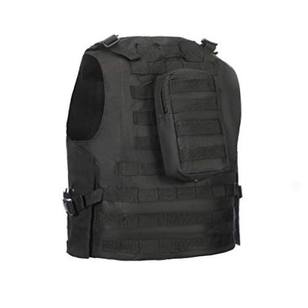 Jipemtra Airsoft Tactical Vest 5 Jipemtra Tactical MOLLE Airsoft Vest Adjustable Paintball Combat Training Vest Detachable (Black)