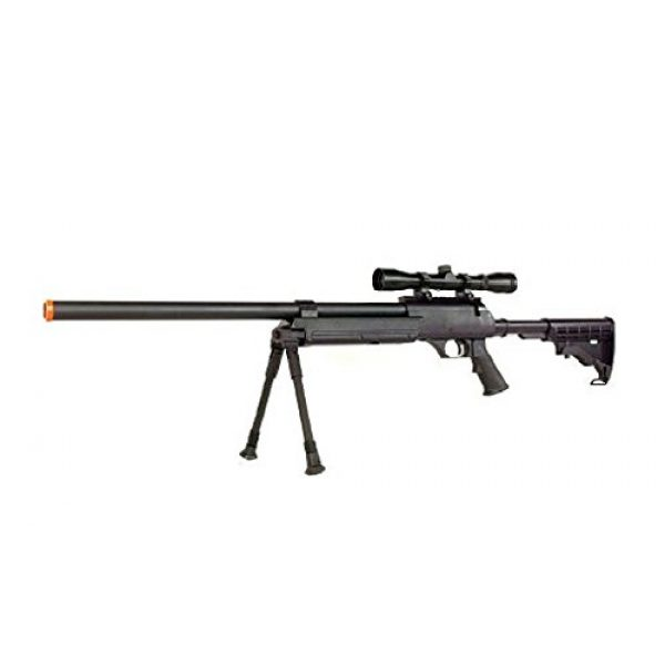 Well Airsoft Rifle 1 Well MB06 SR-2 Tactical Airsoft Sniper Rifle w/ 3-9x40 Scope & Bipod Bolt Action Airsoft Sniper
