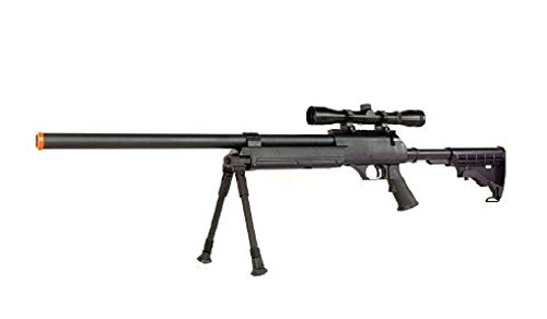 Well  1 Well MB06 SR-2 Tactical Airsoft Sniper Rifle w/ 3-9x40 Scope & Bipod Bolt Action Airsoft Sniper