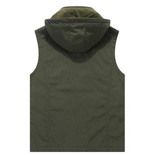 DAFREW Airsoft Tactical Vest 2 DAFREW Youth Vest Men's Casual Vest Quick-Drying mesh Vest Male Outdoor Hooded Vest (Color : Royal Blue, Size : XL)