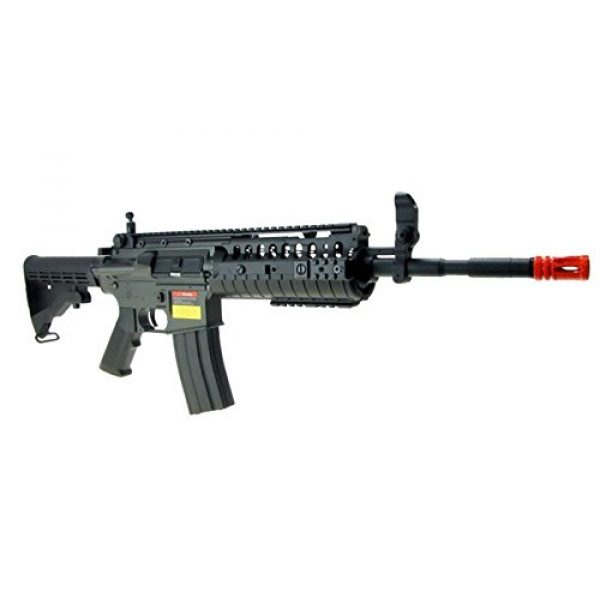 Jing Gong (JG) Airsoft Rifle 5 JG M4 RIS System with Rifle Scope Sniper Airsoft Gun 500 FPS