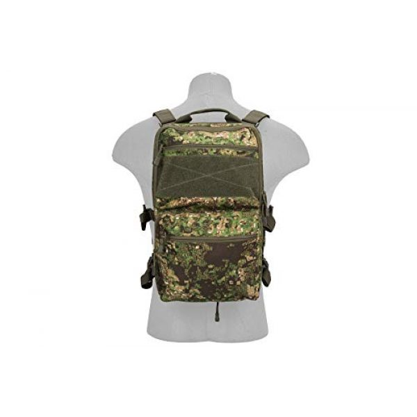 Lancer Tactical Airsoft Tactical Vest 5 Lancer Tactical 1000D Nylon QD Chest Rig and Backpack Combo (GREENZONE)