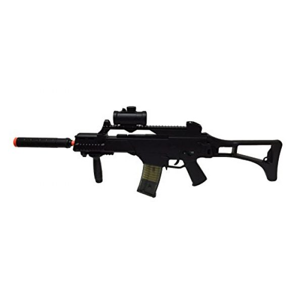 Double Eagle Airsoft Rifle 1 JustAirsoftUSA M85 Electric Rifle Airsoft Gun w/ accessories
