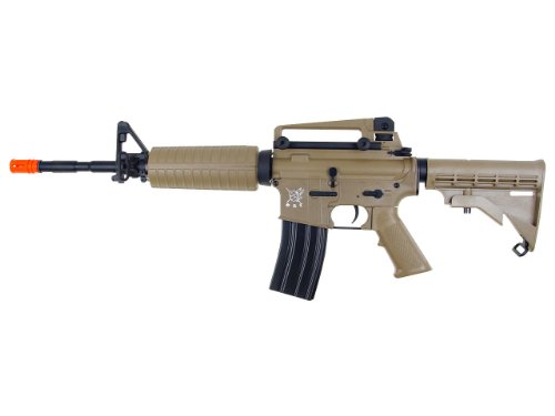 SRC  1 src aeg-m4a1 semi/full auto nimah/charger included-metal gb/tan(Airsoft Gun)