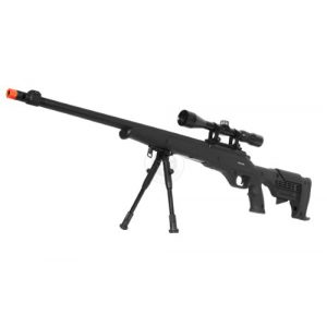 Airgunplace Airsoft Rifle 1 wellfire mb11d full metal bolt action sniper rifle w/ scope and bipod(Airsoft Gun)