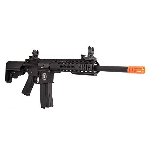 "Lancer Tactical Airsoft Rifle 6 Lancer Tactical LT-19BL-G2-M Gen 2 Airsoft M4 Carbine 10"" AEG Rifle Black"