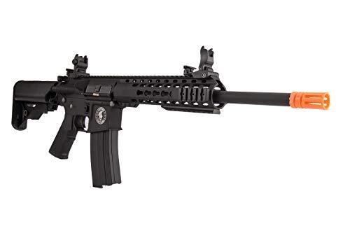 "Lancer Tactical  6 Lancer Tactical LT-19BL-G2-M Gen 2 Airsoft M4 Carbine 10"" AEG Rifle Black"