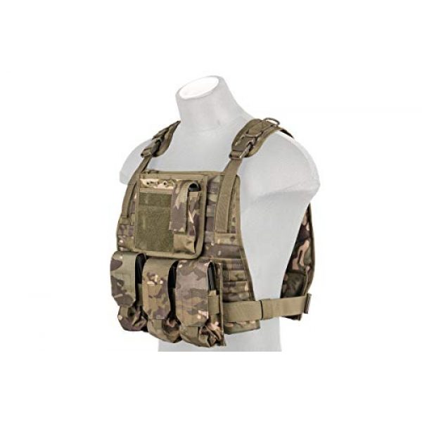 Lancer Tactical Airsoft Tactical Vest 1 Lancer Tactical Ballistic 600D Poly Combat Training Tactical Vest Camo Tropic Adjustable Lightweight