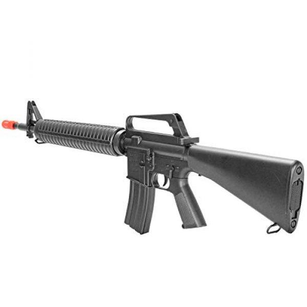 BBTac Airsoft Rifle 2 BBTac M16-A1 Vietnam Model Spring Action Assault Rifle, Black (BT-M16A1_(a))