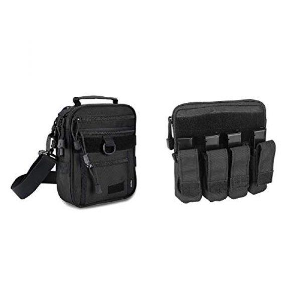 ProCase Pistol Case 1 ProCase Pistol Bag Ammo Accessories Pouch Bundle with Tactical Pistol Mag Pouch Submachine Gun Magazine Bag -Black