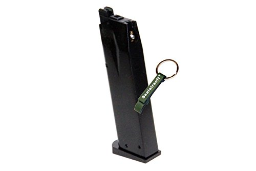 KJW  2 KJ Works 24rds Airsoft Metal 6mm Gas Magazine For P226 KP01 GBB -Mobile Ring Included