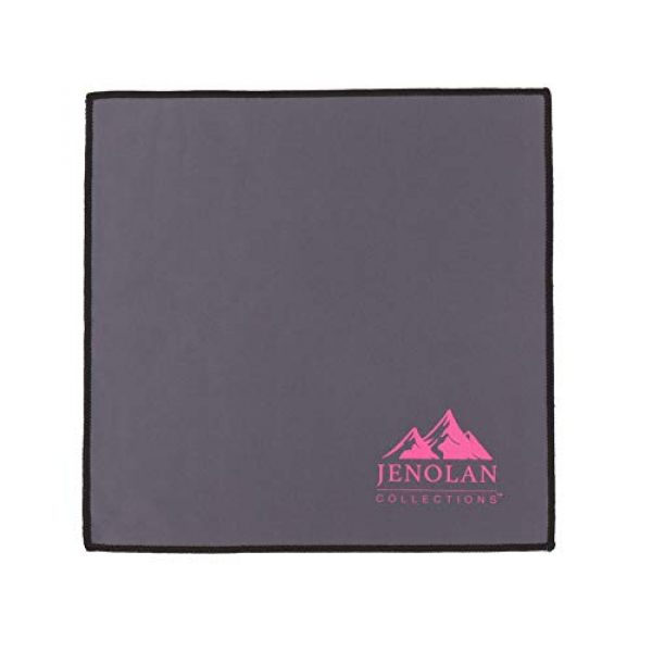"""Jenolan Collections Pistol Case 6 Jenolan Collections Silicone Treated 4.3"""" x 15.7"""" Pink Handgun Socks Pack for Pistols Revolvers and Glocks (4 Pack) for Women. Included is a Gun Cleaning Cloth."""